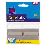 "Avery NoteTabs-Notes, Tabs And Flags In One, 2"", White, 40 per Pack"