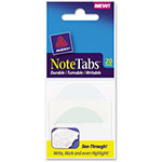"Avery NoteTabs-Notes, 2"" Tabs And Flags In One, Pastel Blue/Green, 20 per Pack"