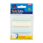 "Avery NoteTabs-Notes, Tabs And Flags In One, Assorted Pastel Colors, 3"", 36 per Pack"