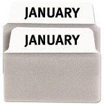 "Avery NoteTabs-Notes, 2"", January-December, White/Taupe, 24 per Pack"