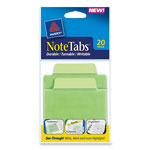 "Avery NoteTabs-Notes, Tabs and Flags in One, Cool Green/Cool Green, 3"", 20 per Pack"