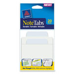 "Avery NoteTabs-Notes, Tabs and Flags in One, Pastel Blue/Clear, 3"", 30 per Pack"