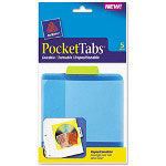 "Avery PocketTab Repositionable Pocket and Tab, 5""x5 1/2"", Lime"