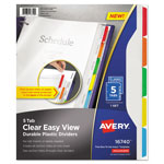 Avery Clear View Plastic Dividers with Sheet Protector, Multicolor, 5-Tab, Letter