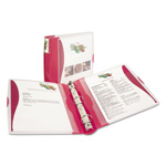 "Avery Silhouette 1 1/2"" View Binder, Red"
