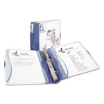 "Avery Silhouette 1 1/2"" View Binder, Blue"