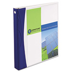"Avery Comfort Touch Durable View Binders with Slant D Rings, 1"", Blue/White"