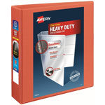 "Avery Heavy Duty Nonstick View Binder w/Locking 1 Touch EZD Rings, 2"" Cap., Orange"