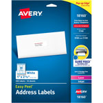 Avery White Ink Jet Mailing Labels, 1 x 2 5/8, 300 per Pack