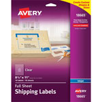 "Avery Easy Peel Mailing Labels for Inkjet Printers, 8 1/2""x11"", Clear, 10 per Pack"