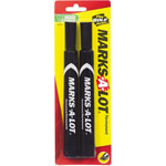 Avery Permanent Marker, Large Chisel Tip, Black, 2 per Pack