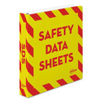 "Avery Safety Data Sheet Heavy-Duty Non-View Preprinted Binder, 1 1/2""Cap, Yellow/Red"