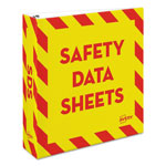 "Avery Safety Data Sheet Heavy-Duty Non-View Preprinted Binder, 2"" Cap, Yellow/Red"