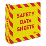 "Avery Safety Data Sheet Heavy-Duty Non-View Preprinted Binder, 3"" Cap, Yellow/Red"