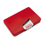 Avery Felt Stamp Pad, 2 3/4 x 4 1/4, Red Ink
