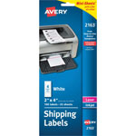 Avery Laser/Ink Jet Labels, 2 x 4 Size, White, 100 Labels/Pack