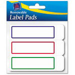 "Avery Removable Label Pads, 1""x3"", Assorted, 120 per Pack"