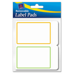 Avery Removable Label Pads, 2 x 3, Assorted, 80/Pack