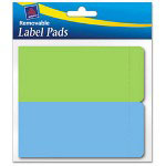 Avery Removable Label Pads, 2 x 4, Assorted, 80/Pack