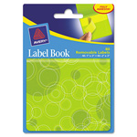 "Avery Label Book, Circles, 80 per Pack, 1""x3"" Neon Yellow, 2""x3"" Neon Green"