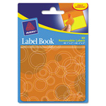 "Avery Label Book, Circles, 80/Pack, 1"" x 3"" Neon Orange, 2"" x 3"" Neon Yellow"