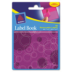 "Avery Label Book, Circles, 80 per Pack, PE 1""x3"", Neon Magenta, 2""x3"" Neon Purple"
