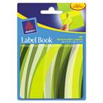 "Avery Label Book, Wavy, 80 per Pack, 1""x3"" Neon Yellow, 2""x3"" Neon Green"