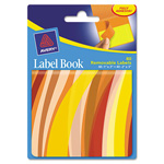 "Avery Label Book, Wavy, 80/PK, 1""X3"" Neon Orange, 2""X3"", Neon Yellow"