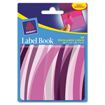 "Avery Label Book, Wavy, 80 per Pack, 1""x3"", Neon Magenta, 2""x3"" Neon Purple"