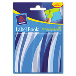 "Avery Label Book, Wavy, 80/pk, PE, 1""X3"" Neon Blue, 2""X3"" Neon Green"