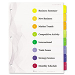 "Avery Designer Ready Index Dividers, Multicolor 8-Tab, 11""x8 1/2"", 3 Sets per Pack"