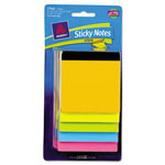 Avery Step Notes, Assorted, 150 Sheets, Bright, 3 Pads/Pack