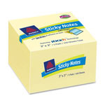 "Avery Layflat Sticky-Notes, 3"" x 3"", 12PD/PK, Yellow"