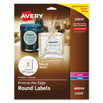 "Avery Round Easy Peel Labels, 2 1/2"" meter, White"