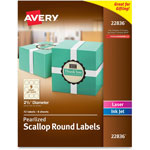 "Avery Round Print-to-the-Edge Labels, 2 1/2"" Dia., Pearl Ivory, 72/Pack"