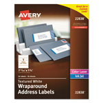 Avery Rectangle Print-to-the-Edge Labels, 7 17/20 x 1 3/4, White, 50/Pack