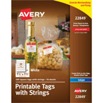 Avery Printable Tags with Strings, 1 1/2 x 1 1/2, White, Square, 200 per Pack