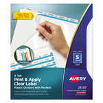 Avery Plastic Dividers w/ Pockets, 5/Tabs, Clear