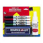 Avery Marks-A-Lot® Pen Style Markers, Eraser and Cleaner Set