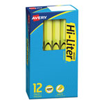 Avery Pen Style Highlighter, Fluorescent Yellow Ink