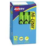 Avery Fluorescent Desk Style Highlighter, Fluorescent Green Ink