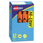 Avery Hi Liter® Fluorescent Desk Style Highlighter, Fluorescent Orange Ink