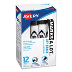 Avery Marks-A-Lot® Chisel Tip Whiteboard Marker, Black Ink