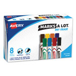 Avery Chisel Tip Whiteboard Marker, Eight Color Set