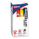 Avery Large Chisel Tip Permanent Marker, 12 Color Set