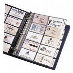 "Avery Business Card Pages, Tabbed, Holds 100 2""x3 1/2"" CD's., Clear"