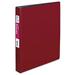 "Avery Durable Binder with Slant Rings, Polypropylene, 11 x 8 1/2, 1"", Burgundy"