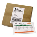 Avery Shipping Labels with Paper Receipt Bulk Pack, 5 1/16 x 7 5/8 , White, 100/Box