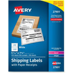 Avery Shipping Labels with Paper Receipt Bulk Pack, 5 1/16 x 7 5/8 , White, 250/Box