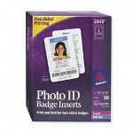 "Avery Photo Id Badge Inserts, Business Card Size, 2-Sided, 3 1/2"" x 2 1/4"""